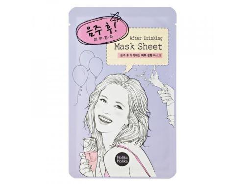Holika After Mask Sheet - After Drinking osvěžující a čistící platýnková maska 16 ml