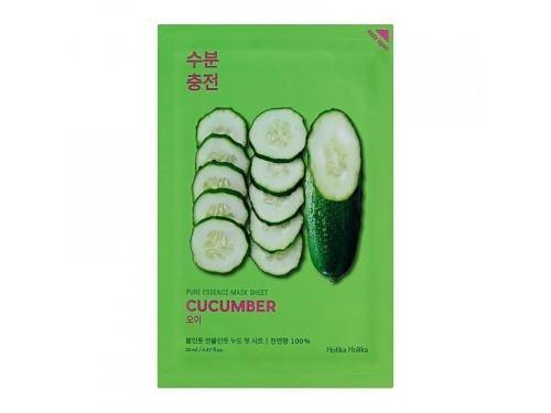 Holika Pure Essence Mask Sheet - Cucumber zklid. platýnková maska s výtaž. z okurky 23 ml