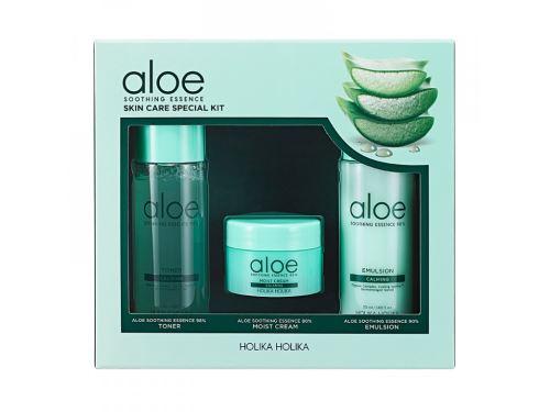 Holika Aloe Soothing Essence Skincare Special Kit hydratač.set pleť. kosmetiky s aloe vera
