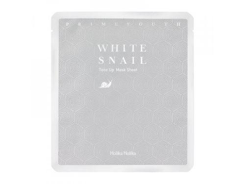 Holika Prime Youth White Snail Tone-up Mask rozjas.platýn.maska s extr.z bíl.hlem.25g