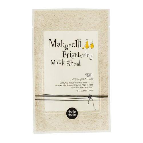 Holika Makgeolli Brightening Mask Sheet rozjasňujcí platýnková maska s extr.z rýž.vína