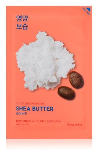Holika Pure Essence Mask Sheet - Shea Butter vyživující platýn. maska s bambuc.máslem 23ml