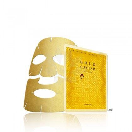 Holika Prime Youth Gold Caviar Gold Foil Mask omlazuj.platýn.maska se zlatem a kaviárem25g