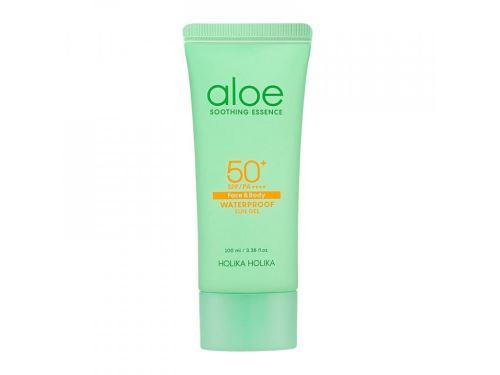 Holika Aloe Water Proof Sun Gel 100ml gel na opalování s aloe vera 100 ml